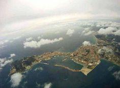 Vistas aereas de Ceuta Dresden Germany, Cadiz, Morocco, Spanish, Clouds, Mountains, Nature, Travel, Outdoor