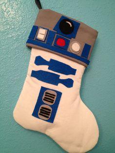 Star Wars R2D2 Holiday Christmas Stocking Artoo. $25.00, via Etsy.