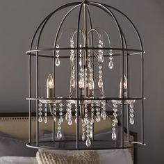One Allium Way® Hollister Birdcage 4-Light Crystal Chandelier