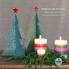 Como fazer pinheiro de encaixe -  Passo a passo com fotos - How make a paper pine - DIY tutorial  - Madame Criativa - www.madamecriativa.com.br