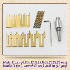 24 pçs/set bola liga faca ferramentas para trabalhar madeira diy contas de madeira broca rosário talão de moldagem por 6/8/10/12/14/15/16/18/20/22/25mm