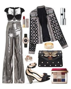 Shiny Shimmery Splendid by melaluuh on Polyvore featuring polyvore, fashion, style, Wanda Nylon, La Perla, J.Crew, Gucci, GUESS, Bobbi Brown Cosmetics, Urban Decay, By Terry and clothing
