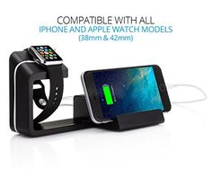 Element Works Dual 2in1 Charging Stand  Dock for Apple Watch and Apple iPhone ** You can find out more details at the link of the image. (Note:Amazon affiliate link)