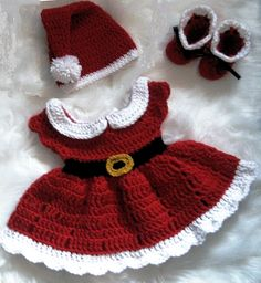 - Crochet Baby Girl Christmas Dress Set Santa Claus Dress Newborn Santa Dress Red Baby Girl Dress Baby Knit Holiday outfit Baby Santa Dress – Dla niemow… Source by - Crochet Baby Dress Pattern, Crochet Baby Clothes, Baby Girl Crochet, Crochet For Kids, Crochet Outfits For Babies, Crochet Dress Girl, Crochet Patterns, Baby Witch Costume, Baby Costumes