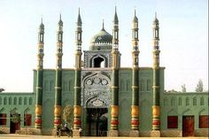 Qazihan Mosque built in 1747. Turpan, Xinjiang, China, Silk Road. #silkroad http://pic.twitter.com/CB8k3gZ35X