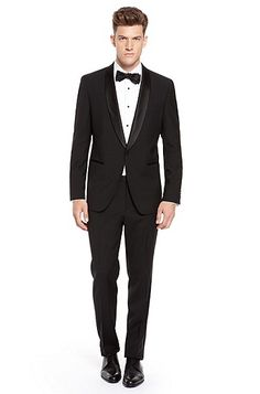 BOSS HUGO BOSS 'Sky/Gala' Trim Fit Wool Tuxedo