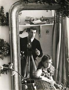 Edouard Boubat, Self portrait with Lella, 1951