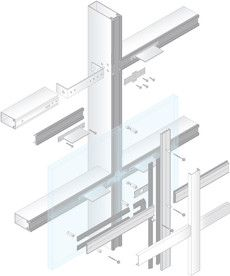 Mullion Curtain Wall Detail Pinterest Technology