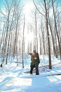 Nothing says Canada, like a winter engagement shoot!