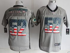 "$23.88 at ""MaryJersey""(maryjerseyelway@gmail.com) Nike Packers #52 Clay Matthews Grey Men's Stitched NFL Elite USA Flag Fashion Jersey"