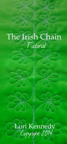 The Irish Chain, Free Motion Quilt Tutorial from Lori at The Inbox Jaunt. Lovely little design, perfect for March or anytime you need a little luck!