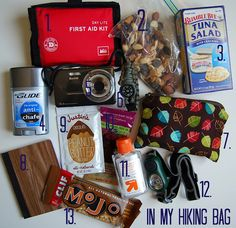 In my hiking bag, recommendations for first-timers/beginners