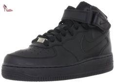 Nike Air Force 1 Mid Bg, Chaussures de Gymnastique fille, Noir (Black/black), 35.5 EU - Chaussures nike (*Partner-Link)