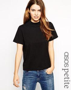 ASOS PETITE T-Shirt with High Neck