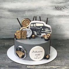 Money Birthday Cake, Pretty Birthday Cakes, Birthday Cakes For Men, Cakes For Boys, Cars Theme Cake, Happy Birthday Boy, Edible Art, Themed Cakes, Rolex
