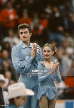 Ekaterina Gordeeva and Sergey Grinkov of the USSR participate in the... ニュース写真 | Getty Images