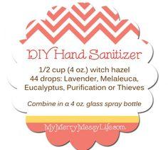 Homemade Natural Hand Purifying Spray Using Essential Oils Hand