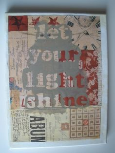 Really want to do something like this and donate it to the ALS art auction! Auction Projects, Art Auction, Shine Quotes, Let Your Light Shine, Painted Canvas, Book Pages, Projects For Kids, Artsy Fartsy, Something To Do