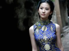 Chinese pretty actresses who love wearing cheongsam — CUTE-LADY. Chinese Gown, Prettiest Actresses, Warrior Girl, Asian Celebrities, Traditional Fashion, Chinese Model, Chinese Actress, Cheongsam, Cute Woman