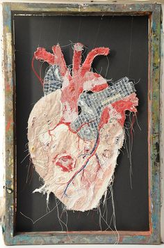 'Crabbed age and youth' Textile Fiber Art, Textile Artists, Bokashi, Anatomy Art, Heart Anatomy, Textiles Techniques, Medical Art, A Level Art, Art Sketchbook