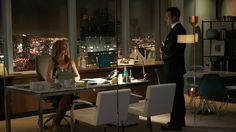 "Sarah Rafferty and Gabriel Macht star as Donna Paulsen and Harvey Specter in Suits season 7 episode 5, ""Brooklyn Housing."""