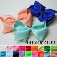 Classic Oversized Grosgrain Hair Bow - French Clip