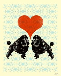 """""""Puppy Love"""" - Posters that Stick (adhesive wall art stickers) at Wheatpaste Art Collective"""