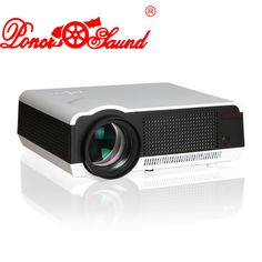 Poner Saund Full HD LED LCD 3D Projector Proyector Home Theater Beamer Projektor HDMI/USB/VGA/AV 1280*800 5000 Lumens