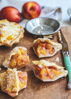 mini nectarine vanilla bean pies - Nectarine pies are like peach pies, only better, especially when they're these mini nectarine-vanilla bean pies.