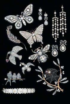 Art Nouveau Stunning Diamond Jewelry ~