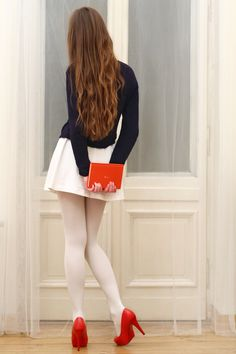 50 Fresh New Ways to Wear White Tights