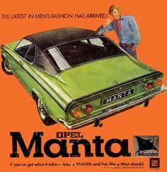 The Opel Manta.