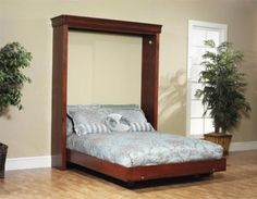 Downloadable plans will be sent to you The plans for this Queen Sized Murphy Bed includes a Material list. This is designed so that you do