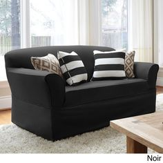 Twill On-piece Relaxed Fit Wrap Sofa Slipcover | Overstock™ Shopping - Big Discounts on Sure Fit Sofa Slipcovers