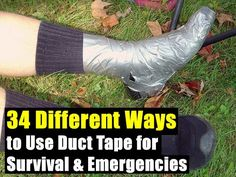 34 Different Ways to Use Duct Tape for Survival & Emergencies ~~~ LINK UPDATED so it goes directly to the post instead of another page that has a link to click on to get to the article.