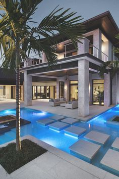15 Relaxing and Dramatic Tropical Pool Designs I love the islands with trees, but not sure about dirt in pool? Source by hafizebetul The post 15 Relaxing and Dramatic Tropical Pool Designs appeared first on The Most Beautiful Shares. Tropical Pool, Tropical Style, Modern Pools, Luxury Pools, Luxury Cars, Modern Mansion, Swimming Pool Designs, Cool Pools, Awesome Pools