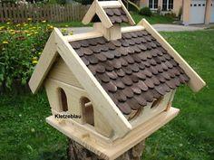 Großes Vogelhaus Vogelfutterhaus Vogelhäuser Vogelhäuschen Holz Bunt Vogelvilla | eBay