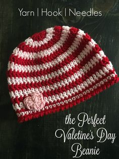 the Perfect Valentine s Day Beanie with FREE Ravelry Pattern! – YHN  c05ef06bc86