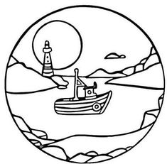 printable moon and nature scenery coloring pages