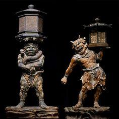 国宝 天燈鬼立像・龍燈鬼立像 奈良・興福寺蔵 Japanese Culture, Japanese Art, Theravada Buddhism, Horror Themes, Buddha Sculpture, Art Museum, Concept Art, Sculptures, Statue