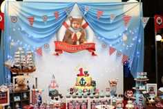 Sailor Bear Birthday Party | CatchMyParty.com