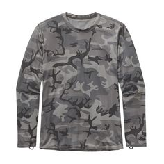 M's RØ® Long-Sleeved Sun Tee, Forest Camo: Forge Grey w/Black (FCFB)
