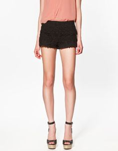 Black Crochet Shorts www.zara.com
