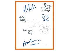 Steve Jobs Movie Script, Signed Michael Fassbender, Kate Winslet, Jeff Daniels, Seth Rogan, Michael Stuhlbarg, Danny Boyle