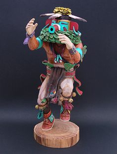 Museum dolls: Corn Dancer Kachina Doll by Mark Taho (Hopi)