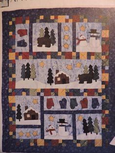 American Tradition Quilt Mantle Cover Pillows & Stockings Costume Patterns, Craft Patterns, Cool Patterns, Quilt Patterns, Linen Bedding, Bed Linen, Traditional Decor, Winter Scenes, American