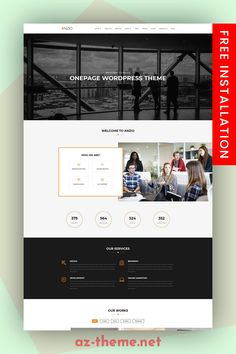 About the Product Anzio – Fully Responsive, Modern and Multipurpose. With the ANZIO Theme you can create a Professional Portfolio, Agency, Personal blog, or Team showcase website. #multipurpose #wordpress #theme