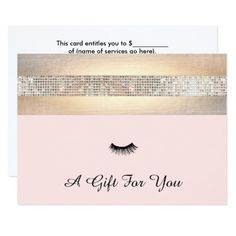 lash extensions salon gift certificate