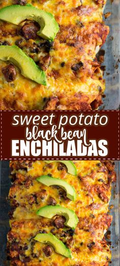 The Rise Of Private Label Brands In The Retail Meals Current Market Hearty And Delicious Sweet Potato Black Bean Enchiladas Are Perfect For A Meatless Dinner Recipe Colby Jack Cheese And Sliced Avocado With Fresh Lime Make Every Bite Full Of Flavor Tasty Vegetarian Recipes, Mexican Food Recipes, Healthy Recipes, Healthy Black Bean Recipes, Mexican Desserts, Healthy Food, Colby Jack, Enchiladas Mexicanas, Sweet Potato Dinner