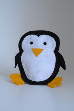 Pinguin puppet  - puppet for children, children toy, puppet theatre  - by KinkinPuppets on Etsy